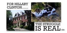 """Multi-Millionaire HillaryClinton says family """"dead broke"""" -- These are her homes in NY and in DC. #PoorHillary NOTE.  They have been telling so many lies for so long and they people let them so they can say whatever they want."""