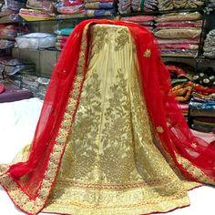designer party wear lehenga choli at indiantrendz pathankot store. designer lehengas also available at rent
