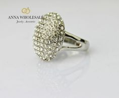 Wholesale Silver WH Crystal Engagement Wedding Twilight Bella CZ Birthday Ring