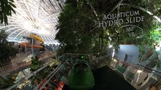 Aquaticum Hydro Slide (Green Bodyslide, Night) 360° VR POV Onirde Vr, Fair Grounds, Night, Green, Travel, Viajes, Destinations, Traveling, Trips