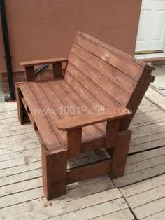 2013 05 04 12.42.05 600x800 Two seater garden bench from pallets in pallet garden pallet furniture  with pallet Bench