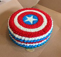 Marvel Birthday Cake, Captain America Birthday Cake, Captain America Party, Superman Birthday, Avengers Birthday, 5th Birthday, Birthday Ideas, Anniversaire Captain America, Avenger Cake