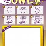 Owl picture for kids at a Jewelry Bar Drawing Videos For Kids, How To Draw Steps, Owl Pictures, Science, Arts Ed, Creative Play, Step By Step Drawing, Origami Owl, Art Classroom