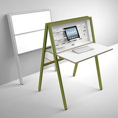 HIDEsk Is as Minimalist as It Gets -- A nice, simple way to hide a desk!