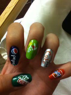 Mt Dew--Pepsi--7 UP--Coke--Fanta