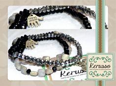 Pulseras de piedras semipreciosas. Cada una  se vende por separado.  #KerussoBisuteria #Design #Jewelry #HandMade #CostaRica