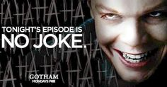 """'Gotham' Poster: The Joker Is Coming! -- Tonight's episode of Fox's 'Gotham' is """"no joke,"""" as a new poster teases The Joker's arrival in 'The Blind Fortune Teller', airing at 8 PM ET. -- http://www.movieweb.com/gotham-tv-show-poster-joker"""