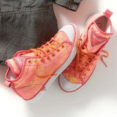 Sneaker, Spitze, Neonfarben in orange, fuchsia von GUESS bei IMPRESSIONEN