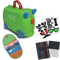 Trunki by Melissa & Doug Wheeled Carry-On Kids Luggage - Jade Green with Coordinating Saddle Bag and Decorative Sticker Set by Melissa & Doug, http://www.amazon.com/dp/B004FOFS4U/ref=cm_sw_r_pi_dp_e3rSqb08PZG3T