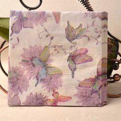 33cm*33cm 20pcs/bag Dream Butterfly Paper Napkin Flower Festive & Party Tissue Napkins Decoupage Table Party Wedding DecorationB #EngagementRings