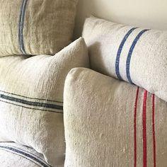 Little Farmstead: DIY Grain Sack Pillows (And Where to Buy European Grain Sacks!)