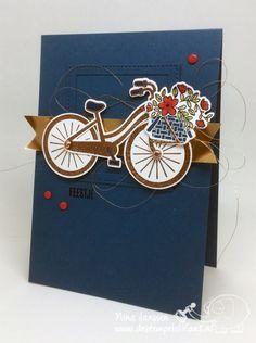 Creatieve Harten Bloghop – 100% Nederlands - de stempelolifant - Bike Ride - Voor elke gelegenheid - Stampin' Up!
