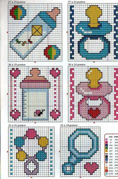 Baby x-stitch pattern Baby Cross Stitch Patterns, Cross Stitch For Kids, Cross Stitch Cards, Cross Stitch Baby, Cross Stitch Designs, Cross Stitching, Cross Stitch Embroidery, Embroidery Patterns, Hand Embroidery