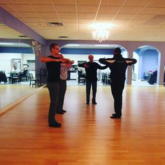 The guys Fine tuning their #dance moves.