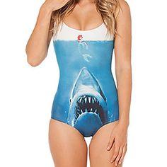 Mujeres Shark VS Sirena de una pieza del traje de baño – EUR € 8.90