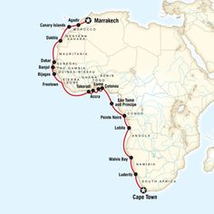 Cruise from Cape Town to Marrakesh, Morocco