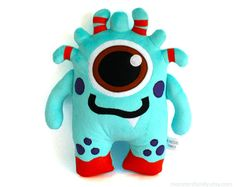 Hi, I am a friendly Monster Plush Toy. I am coming in three sizes: - big size - about 18x12,5 inches (45x31cm), - medium size - about 14x10 inches (35x25 cm), - small size - about 10x7,5 inches (24x19cm). I am made of very soft and cuddly minky fleece and organic felt and stuffed with super soft nonallergic polyfill. I am suitable for babies - my face is carefully embroidered and there are no small plastic or metal parts in my body. I am coming from a smoke free home. I am washable, be…