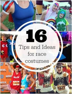 16 tips and ideas for race costumes from the hard core DIY to last minute for Halloween or any other fun race! (via @runtothefinish)