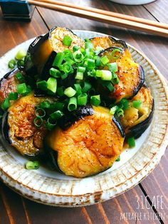 レシピ レシピ in 2020 Easy Cooking, Cooking Recipes, Asian Recipes, Healthy Recipes, Eggplant Recipes, Cafe Food, No Cook Meals, Food Photo, Vegetable Recipes