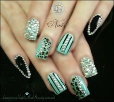 Cute fake nails mix match