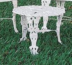 "Garden Table (White) (21""diameter x 13.75""H) by JJ International. $90.99. Made of lightweight, easy-care cast aluminum in a crisp, white powder finish.. Stainless steel hardware makes it durable and maintenance free. Assembly required.. Each Item Sold Separately.. Color: White. Size: 21""diameter x 13.75""H. Decorate your garden or patio with timeless Victorian style garden table Each piece is elegantly designed in a grapevine theme. Made of lightweight, easy-care ..."