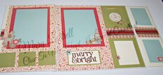 This is a layout made with our White Pines paper. We did these at our team meeting. We used our Flip Flaps on these pages and there are more places to put pictures now. This is so much fun adding the flip flaps. There are several of the White Pines complements, cricut cuts, and red glitter tape. If you are interested in purchasing any of these items, just let me know and I can assist you with the items. Thank you for looking.