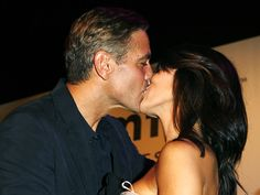 George Clooney puckered up in the name of AIDS research when a young woman offered up a whopping $350,000 for a kiss from the salt-and-pepper hunk during a 2007 charity auction.