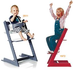Stokke tripp trapp chair - definitely want a tall chair to be used by my toddler at the table, and one she can get into and out of herself.
