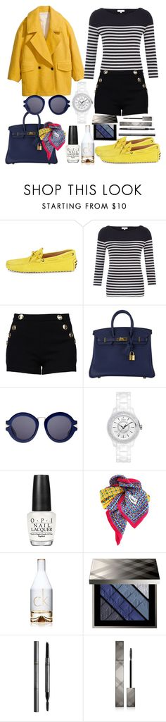 Outfit #116 by sofi6277 on Polyvore featuring CC, Boutique Moschino, Tod's, Christian Dior, Hermès, Karen Walker, Yves Saint Laurent, Burberry, Calvin Klein and OPI