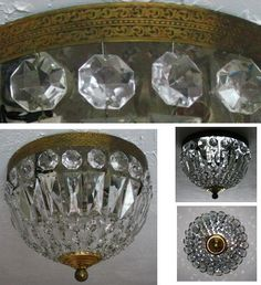 Petite Vintage French Crystal Chandelier