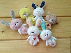 Мишки Тедди ручной работы. Ярмарка Мастеров - ручная работа. Купить Сердечные малыши. Handmade. Мишка, зайка, игрушка