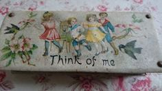 EVOCATIVE-ANTIQUE-FRENCH-ENGLISH-CHILDS-WRITING-SET-THINK-OF-ME-c1900