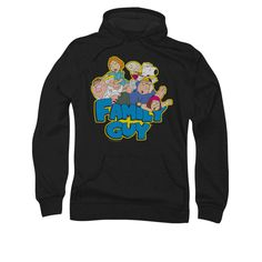 Family Guy Hoodie Family Fight Black Sweatshirt Hoody Officially Licensed Available in Small, Medium, Large, XL & Matching Hoodies, Family Shirts, Girl Outfits, Family Guy, Hoody, Sweatshirts, Sweaters, Clothes, Black