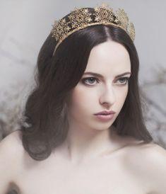 """majestätische Diademe mit Ornamenten in Gold """"Arden"""""""