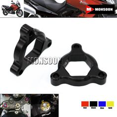 For Suzuki TL1000S TL1000R Motorcycle Accessories 17mm CNC Aluminum Suspension Fork Preload Adjusters Black #Affiliate