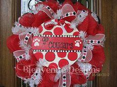 School Spirit Mesh Wreath Custom Order by lesleepesak on Etsy, $65.00