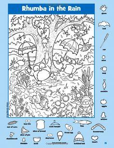 숨은그림찾기를 위한 다양한 힌트 숨은 그림은 찾아야 할 물건들과 같은 방향으로 놓여 있습니다. 책의 방향을 요리조리 바꾸어 보면 꼭꼭 숨어 있는 그림을 찾을 수 있습니다. English Activities, Art Activities For Kids, Book Activities, Find The Difference Pictures, Hidden Pictures Printables, Hidden Picture Puzzles, Halloween Crafts For Toddlers, Kids Math Worksheets, Hidden Objects