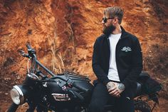 Triumph's new Ace Café Collection includes embroidered tee's, jackets and pullovers featuring Thruxton 900 logo to celebrate London's #AceCafe and our #AceCafeThruxton.