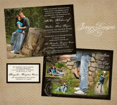 Custom+Photo+Wedding+Invitation+Set+by+Jeneze+on+Etsy,+$35.00