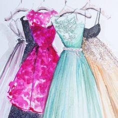 Sparkling dresses!