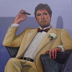 Al Pacino - acrylic painting - 90 x 90 cm