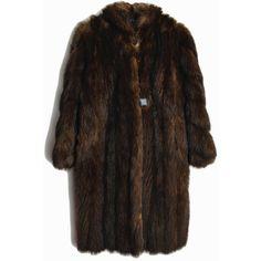 Vintage Espresso Brown Fur Coat Mid-Length Mink Fur Coat Winter... ($284) ❤ liked on Polyvore featuring outerwear, coats, mid length coat, vintage coats, brown mink coat, mink fur coat and vintage fur coats