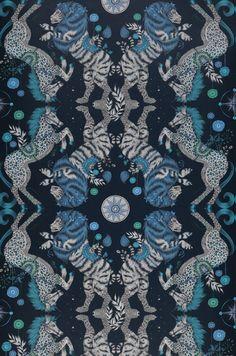 Wallpaper Caspian steel blue