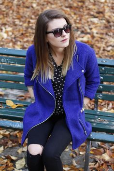 outfit: electric blue coat. – Hoard of Trends – Fashion Blog from Berlin / Mode Blog aus Berlin