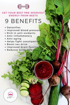 Paleo Recipe: Beetscan be used in a variety of DIY recipes like juices, powder, chips & desserts. You don't have to be a top fitness athlete to use beets as a natural pre-workout energy drink. These homemade pre-workout drink recipes for women are guarant Pre Workout Drink, Good Pre Workout, Workout Drinks, Beet Recipes, Drink Recipes, Juice Recipes, Smoothie Recipes, Dinner Recipes, Red Juice Recipe