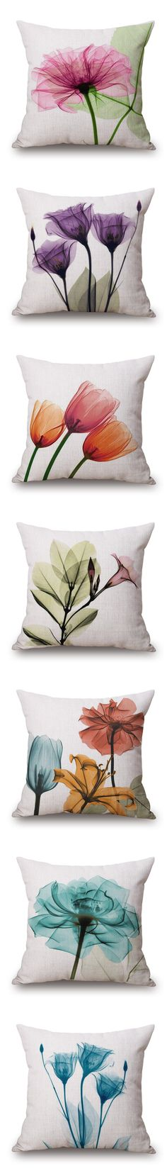38 Pillows Decoration That Make Your Place Look Cool - Home Decoration - Interior Design Ideas Fabric Painting, Fabric Art, Sewing Crafts, Sewing Projects, Diy And Crafts, Arts And Crafts, Flower Pillow, Sewing Pillows, Decorative Pillow Cases