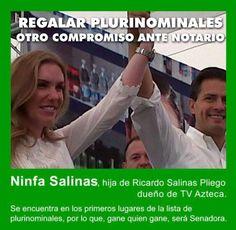 ESTE COMPROMISO, A RICARDO SALINAS PLIEGO, DUEÑO DE TV AZTECA,, TAMBIEN LO HIZO ANTE NOTARIO......................