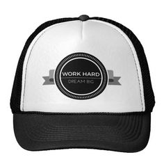 Work Hard Dream Big Trucker Hat