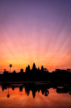 """Angkor Wat - Siem Reap, Cambodia • """"Just before sunrise"""" by Mikael Kvist on http://500px.com/photo/11080315"""