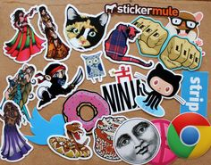 Instant sticker collection from stickermule and they are freakin' rad.